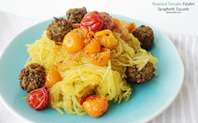 Roasted Tomato Falafel Spaghetti Squash