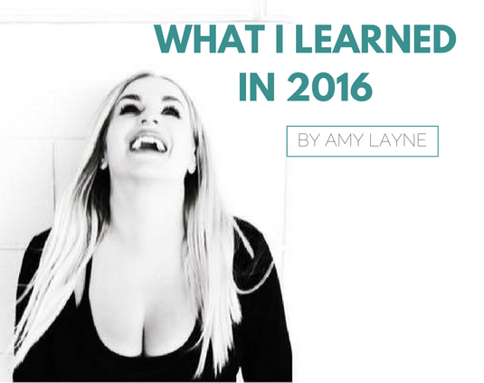 wHAT I learned in 2016