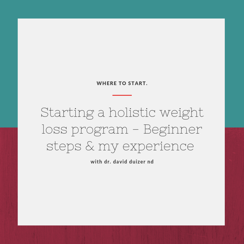 How to start a holistic weight loss program – Beginner Steps